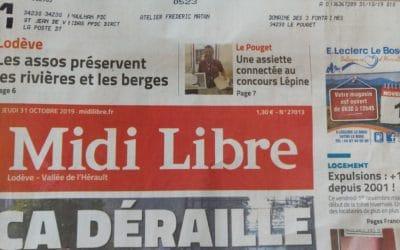 Parution Midi Libre suite aux résultats du concours Lépine Montpellier 2019